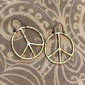 Lucky Brand peace sign earrings
